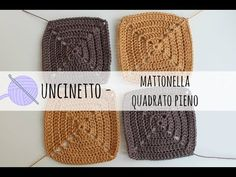 Tutorial uncinetto - borsa a mattonella solid square - YouTube