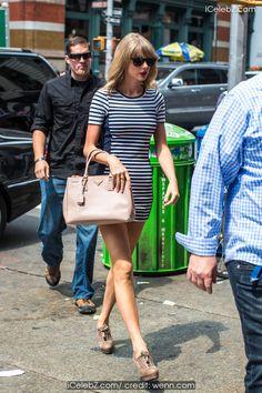 Taylor Swift sexy chic in mini dress around NYC