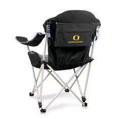 Picnic Time Oregon Ducks Reclining Camp Chair, Black