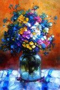 Flori de camp in borcan
