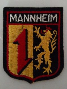 Mannheim Germany Coat of Arms Patch Collectible Travel Souvenir  #Unbranded