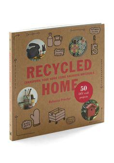 Recycled Home by Chronicle Books - Multi, Dorm Decor, Handmade & DIY, Eco-Friendly