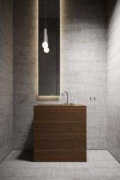 Architecture Images, Interior Architecture, Interior Design, Restroom Design, Contemporary Bathroom Designs, Bathroom Inspiration, Decoration, Garden Sink, Powder Rooms