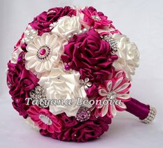 Reserved Listing for Sarah  Fabric Flower Bouquet  FINAL от LIKKO