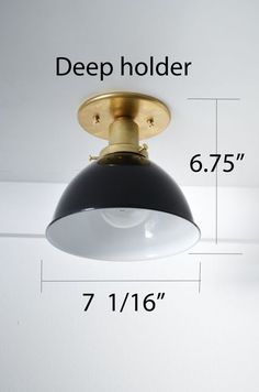 Triple Seven Home Custom Lighting Furniture Flush Mount Light Dome Brass Black White