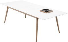 Extendable Dining Tables – BoConcept  matt white lacquered/oak veneer. H74½xW140/188xD100cm.  £1,039