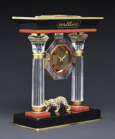 """Cartier """"The Egyptian Temple Panther Portico Mystery Clock"""" 