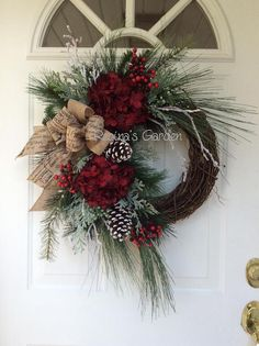 Christmas Wreath-Winter Wreath-Christmas Wreath di ReginasGarden