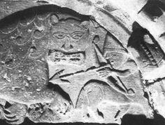 Centaur with helmet and bow - Cormac's Chapel, Cashel, Ireland, 12th century