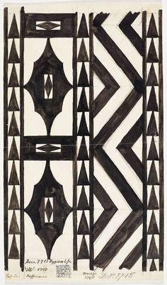Josef Hoffmann, Entwurf eines Läufers Hygica für die Wiener Werkstätte, Dessin Nr. 7715, 1910, Backhausen GmbH © MAK/Georg Mayer.