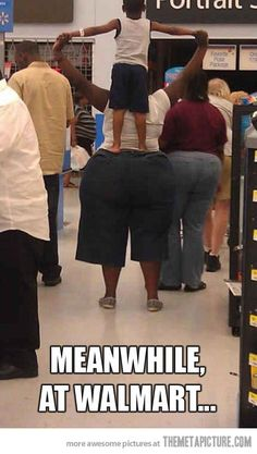 Oh my gosh.... I have seen some pretty crazy things at Walmart but I think this is top 5!!! Hahahahaha!