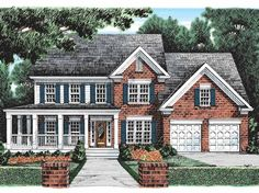 Country House Plan with 2834 Square Feet and 5 Bedrooms from Dream Home Source   House Plan Code DHSW01690