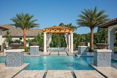 Arthur Rutenberg Homes Pool / Gazebo at the Modena model at The Concession. #theconcessionrealestate #arthurrutenberghomes