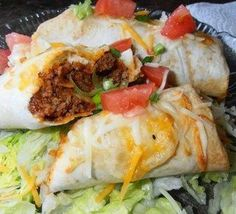 Simple Beef Chimichangas