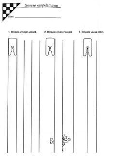 Ompelun taitotodistus (2) - suoran ompeleminen.