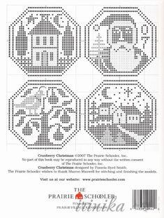 Cranberry Christmas 4 of 4 Cross Stitch House, Xmas Cross Stitch, Cross Stitch Needles, Cross Stitch Samplers, Counted Cross Stitch Patterns, Cross Stitch Charts, Cross Stitch Designs, Cross Stitching, Cross Stitch Embroidery
