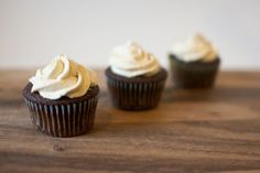 Imperial Stout Cupcakes with Salted Caramel Buttercream from freshandfoodie.com @Bobbi | Fresh and Foodie
