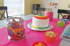 Art birthday party.  Great ideas for a party for a 4 year old.