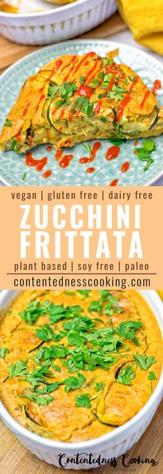 This dairy free Zucchini Frittata made with chickpea flour is bursting with flavor, super easy to make, delicious makes an amazing appetizer, breakfast, lunch and dinner. It's vegan and gluten free and made with only 6 ingredients.
