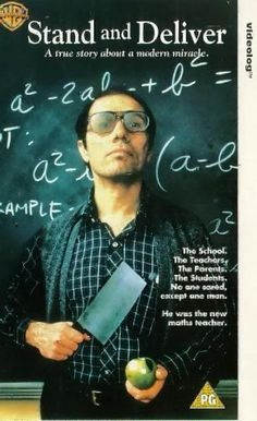 Stand and Deliver--will have to show in my calculus class Top Movies, Movies And Tv Shows, Math Movies, Drama Movies, The Stand Movie, I Movie, Movie Stars, Great Movies To Watch, Stand And Deliver