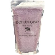 Dorian Gray Lavender Rose Luxury Bath Soak ($14) ❤ liked on Polyvore featuring beauty products, bath & body products, body cleansers and purple