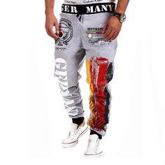Men fashion Pants/trousers-Light Grey