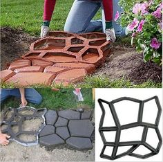 """Hot Fashion Irregular Original Garden Path Mate Personal PP Stepping Paving Stone Mold. Home & Garden. Type: Paving Stone. Toy & Video Games. Material: PP. Occasion: Garden, Yard. Mold Si ze: 39 x 39 x3,8cm/15.2 x 15.2 x 1.5""""(L X W X T). 