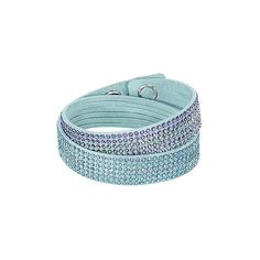 SLAKE LIGHT BLUE 2 IN 1 BRACELET ❤ liked on Polyvore featuring jewelry, bracelets and light blue jewelry