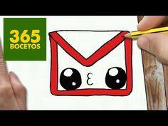 COMO DIBUJAR LOGO FACEBOOK KAWAII PASO A PASO - Dibujos kawaii faciles - How to draw a Logo Facebook - YouTube