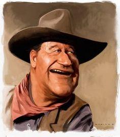 John Wayne    Artist: Andries Maritz  website: http://andriesmaritz.blogspot.com