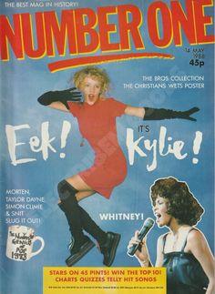 Kylie Minogue on Magazine Cover 1988 Wet Wet Wet Craig Logan Nicholas Cage Craig Logan, Stars On 45, Kylie Minogue Hair, Taylor Dayne, Natalie Imbruglia, Joey Tempest, Uk Magazines, Ll Cool J, Hair