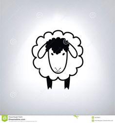zwart-silhouet-van-schapen-45230857.jpg (1300×1390)