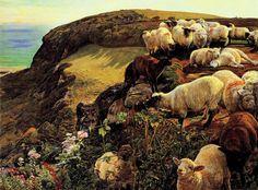 Our English Coasts William Holman Hunt  Pintado: 1852 Ubicación: Tate Britain - London (Pre Rafaelismo)