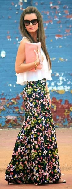 Dress Up Black Multi Floral Palazzo Pants by For All Things Lovely