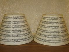 Musical note lamp shade covers