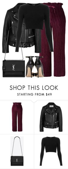 """Untitled #3271"" by elenaday on Polyvore featuring Topshop, Acne Studios, Yves Saint Laurent and Jimmy Choo"