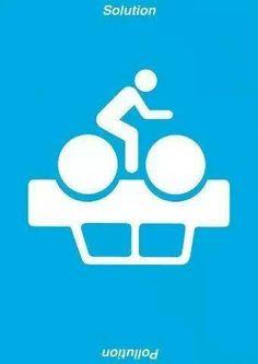 ¿Contaminación o Solución? el uso de la #bici ayuda al medio ambiente!!