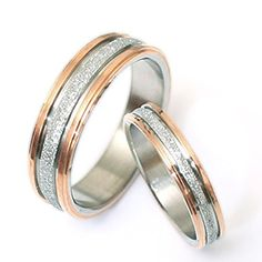 Gemini His and Her Two Tone Rose Gold Couple Titanium Wed... https://www.amazon.com/dp/B00Q6T6D6Y/ref=cm_sw_r_pi_dp_x_MdbYyb2519GK2