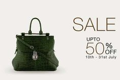 Hidesign End of Season Sale - Upto 50% off from 10 to 31 July 2013 at all exclusive HiDesign Stores | Deals, Sales, Offers, Discounts in Mumbai | mallsmarket.com