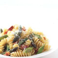 Fusilli with Asparagus and Bacon