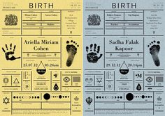 Birth Announcement Infographic desing