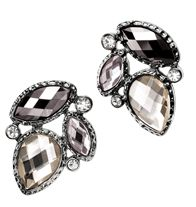 Sparkling Cluster Statement Earrings