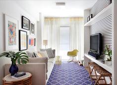 """763 curtidas, 3 comentários - DIY Home 🏡 (@diyhomebr) no Instagram: """"Linda sala de estar de um apartamento no Rio de Janeiro. Fonte: @silviabraz #decor #decoracao…"""""""