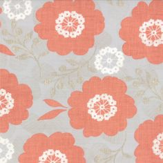 Modern Roses - Ginger Pretty Polly Peach by Stephanie Ryan from Moda Trend Fabrics, Rose Vines, Cotton Crafts, Pillow Fabric, Quilt Kits, Fabulous Fabrics, Fabric Tags, Sewing Notions