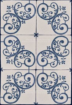 Italian Decorative Tiles On The Road To Florence 16Th Century Italian Decorative Blue And