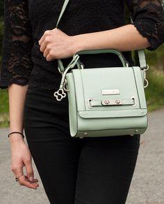 Bolsa Gabrielle   Couro #leather #handbag #purse #verde #green