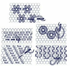 Illustrated Cross stitch, Needlecraft and Embroidery glossary. Section D: Daisies to Dutch Stitch Tambour Embroidery, Crewel Embroidery Kits, Paper Embroidery, Cross Stitch Embroidery, Embroidery Patterns, Machine Embroidery, Embroidery Supplies, Bobbin Lace, Embroidery Techniques