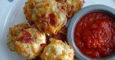 recept na pizza muffiny se sýrem