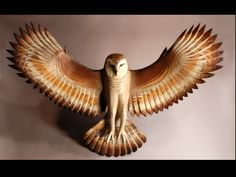 Barn Owl wood sculpture  Jason Tennant by jasontennant on Etsy, $3,500.00