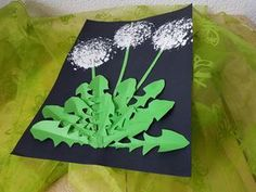 Zoom: Today we'll show you how to make a dandelion. - Easy Crafts for All Easy Crafts To Sell, Diy And Crafts, Crafts For Kids, Arts And Crafts, Valentines Day Drawing, Valentine Day Crafts, Dragon Fly Craft, Kindergarten Art Projects, Dandelion Flower